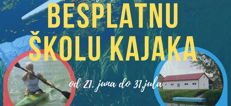 Plakat besplatne škole kajaka 2019 Kajak kluba Sombor